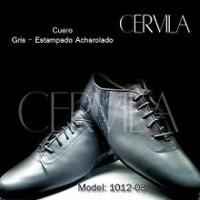 Online Tango Shoes - Cervila - Dash Gris Estampado Cuero (fully leather)
