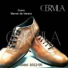 Online Tango Shoes - Cervila - Dash Marron Cuero (fully leather)