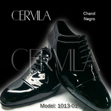 Online Tango Shoes - Cervila - Ladeado Negro Charol (fully leather)