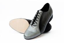 Online Tango Shoes - 2x4 al pie Almagro Flex Negro y Peltre