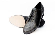 Online Tango Shoes - 2x4 al pie Almagro Flex Negro y Croco Bronze