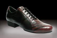 Online Tango Shoes - 2x4 al pie San Telmo - Negro y Malbec (fully leather)