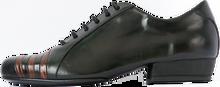 Online Tango Shoes - 2x4 al pie Montserrat Flex Negro y Lagarto Marron