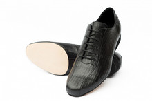 Online Tango Shoes - 2x4 al pie Villa Urquiza Flex Lagarto Negro