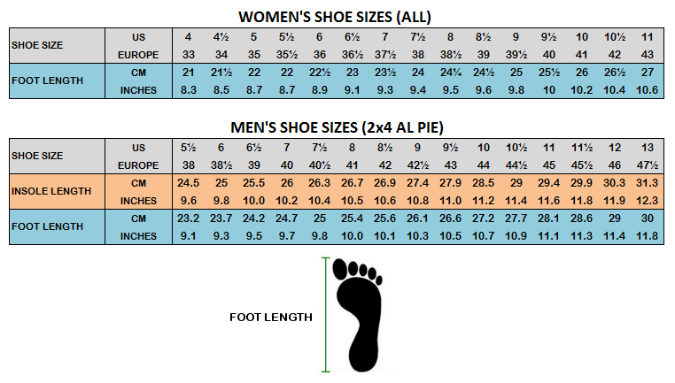 How to size your tango shoes