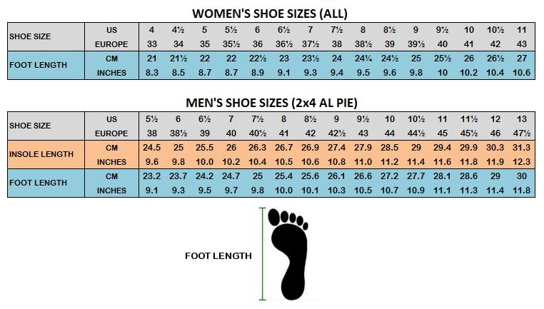 Shoe Size  En Usa