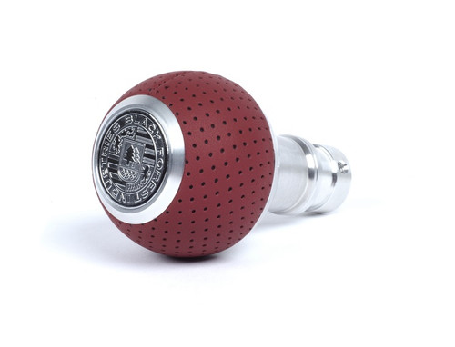 Porsche BFI Heavy Weight Shift Knob - Full Billet Machined/Magma Red Air Leather