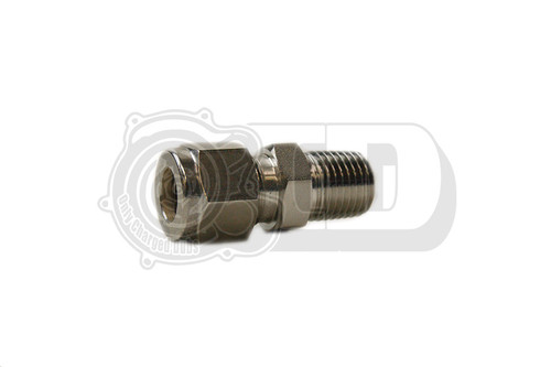 "3/8"" OD - Male NPT Straight Compression Stainless Fitting"