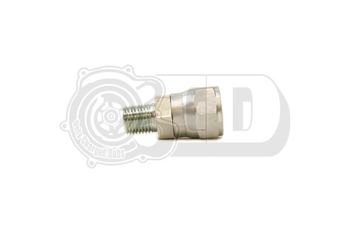 "Threaded Fitting - AN8 Female to 1/4"" Male NPT OB2 Compressor Adapter"