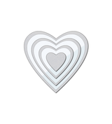 Clear Cut Stackers: Hearts