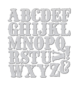 Folk Art Alphabet Die