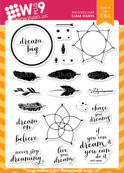 Wplus9 Dream Believer stamp set