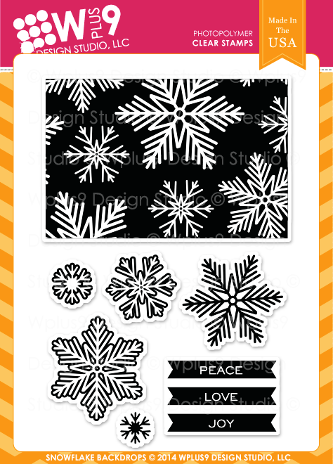 Snowflake Backdrops Stamp