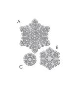 Snowflake Trio Die
