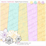Easter Daffodils Digital Card Kit