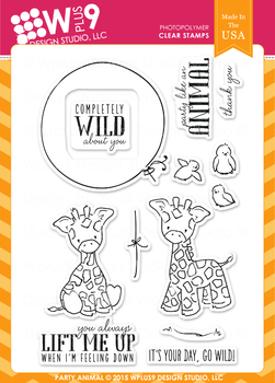 Wplus9 Party Animal Stamp Set