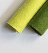 Shades of Green Wool Felt