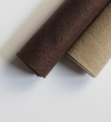 Shades of Cool Brown Wool Felt