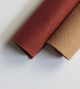 Shades of Warm Brown Wool Felt