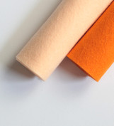 Shades of Orange Wool Felt