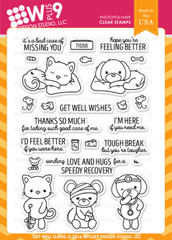 Wplus9 Get Well Gang stamp set