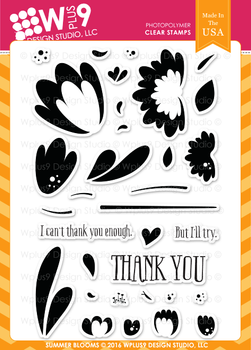 Wplus9 Summer Blooms stamp set