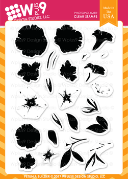 Wplus9 Petunia Builder Stamp Set