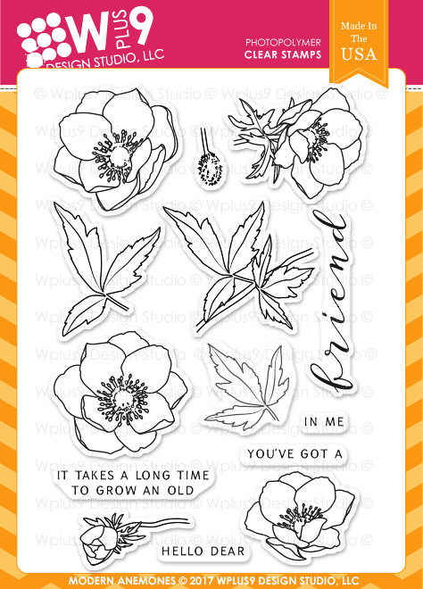 Wplus9 Modern Anemones Stamps