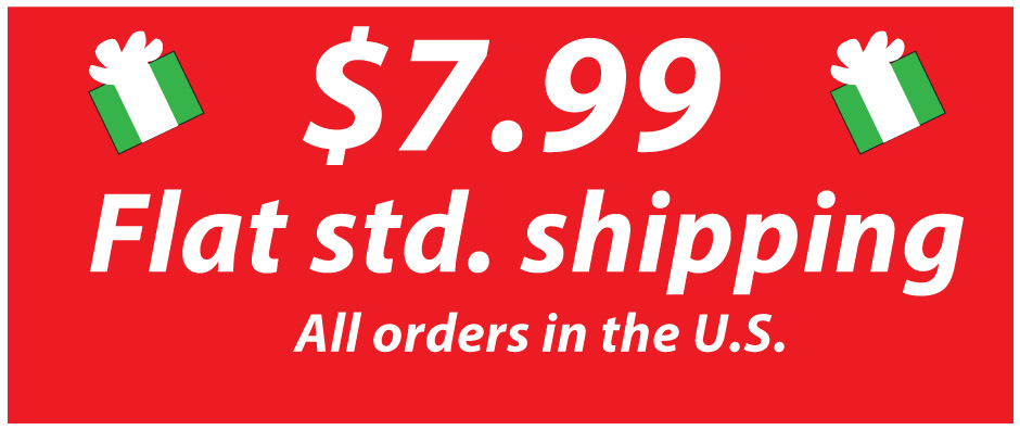 Holiday flat std shipping for just $7.99 from Code Four Athletics soccer uniforms