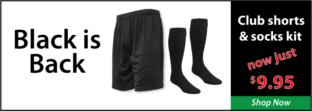 Soccer club shorts and socks kit by Code Four Athletics