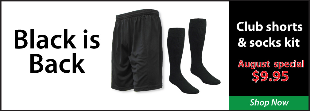 Club soccer shorts and socks kit by Code Four Athletics