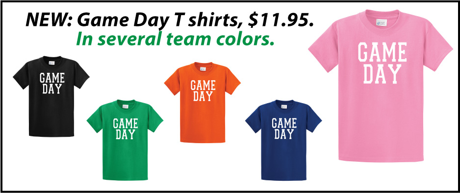 Game Day T shirts in many colors by Code Four Athletics