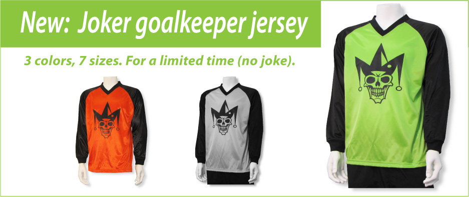 Joker soccer goalkeeper jersey by Code Four Athletics