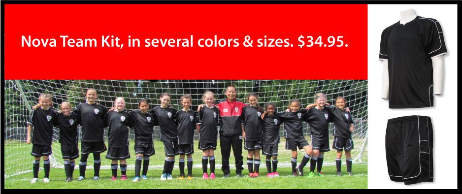 Nova Soccer Uniform Kit by Code Four Athletics