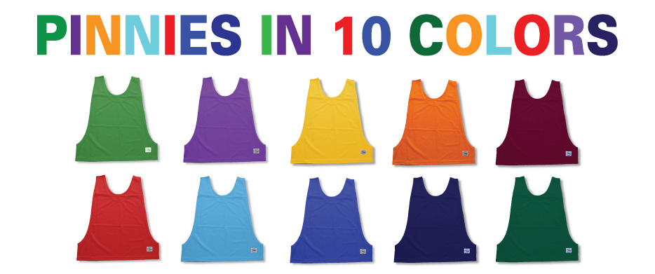 Soccer Pinnies in 10 colors by Code Four Athletics