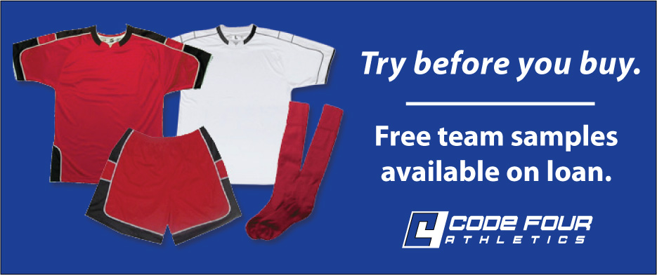 Code Four Athletics soccer samples available on loan