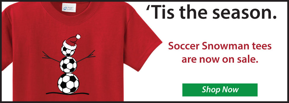 Soccer Snowman t shirts exclusively by Code Four Atheltics