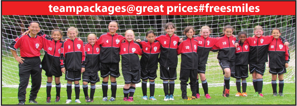 Soccer Team Packages with soccer uniforms and warmups from CodeFourAthletics.com
