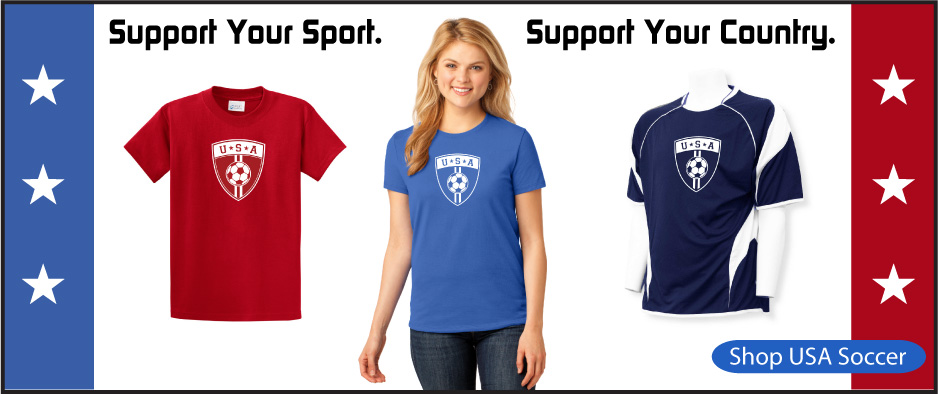 USA soccer shirts and jerseys from Code Four Athletics
