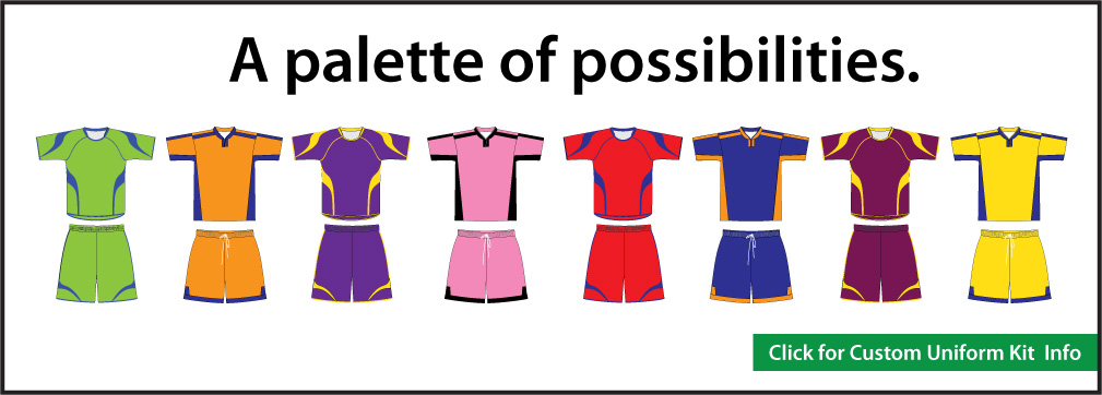 Custom Soccer Uniform Kits in many colors and styles by Code Four Athletics