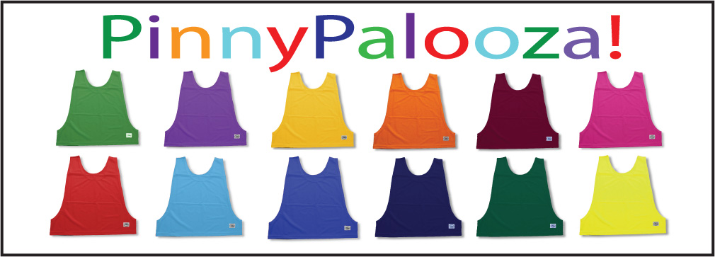 Soccer pinnies, pennies in many colors by Code Four Athletics
