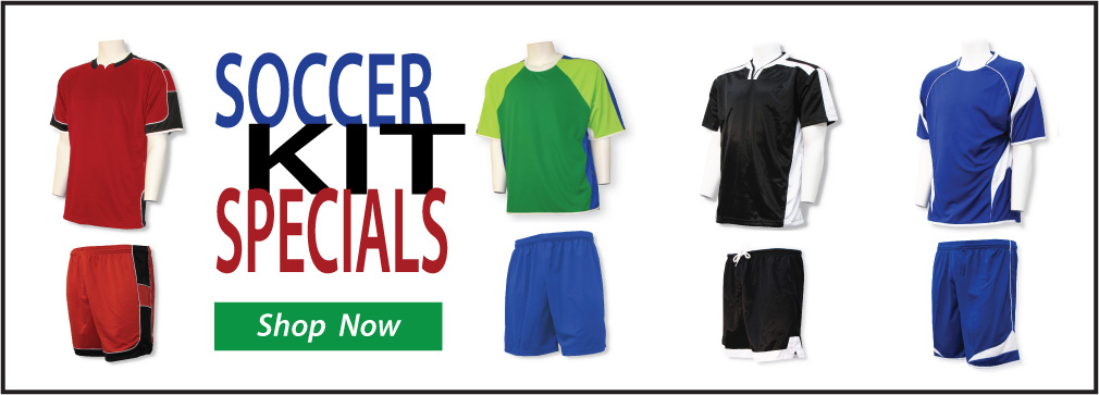 Soccer Kit Specials for youth, men and women by Code Four Athletics