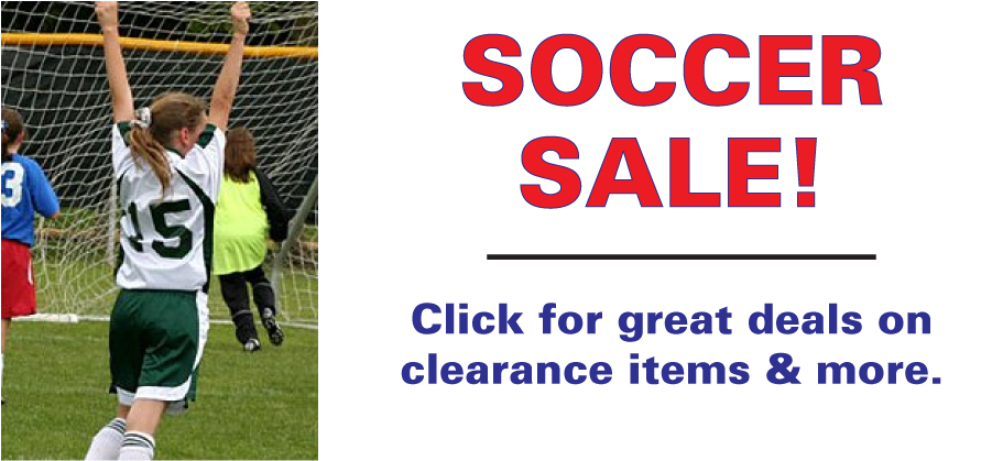 Clearance soccer gear and soccer sale items by Code Four Athletics