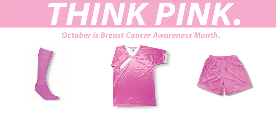 Think Pink: October is Breast Cancer Awareness Month, by soccer brand Code Four Athletics