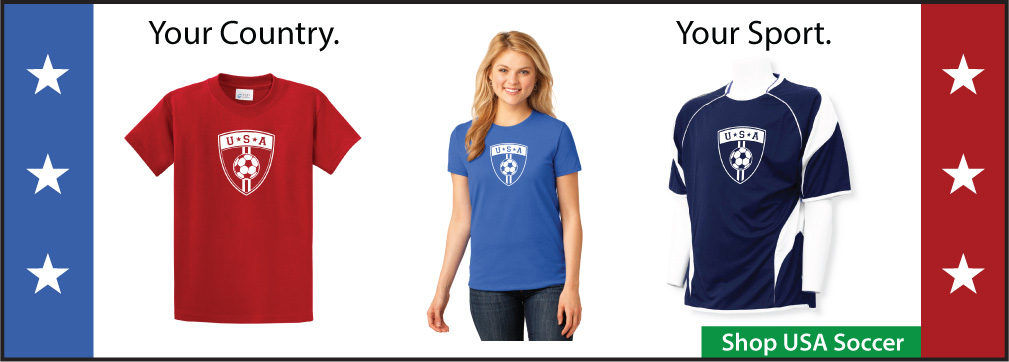 USA soccer shirts by Code Four Athletics