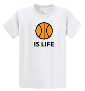 Ball Is Life T-shirt, basketball edition, by Code Four Athletics