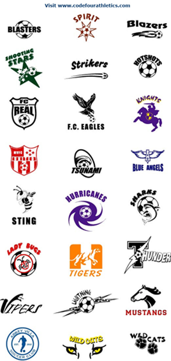 Example of custom soccer logos by Code Four Athletics