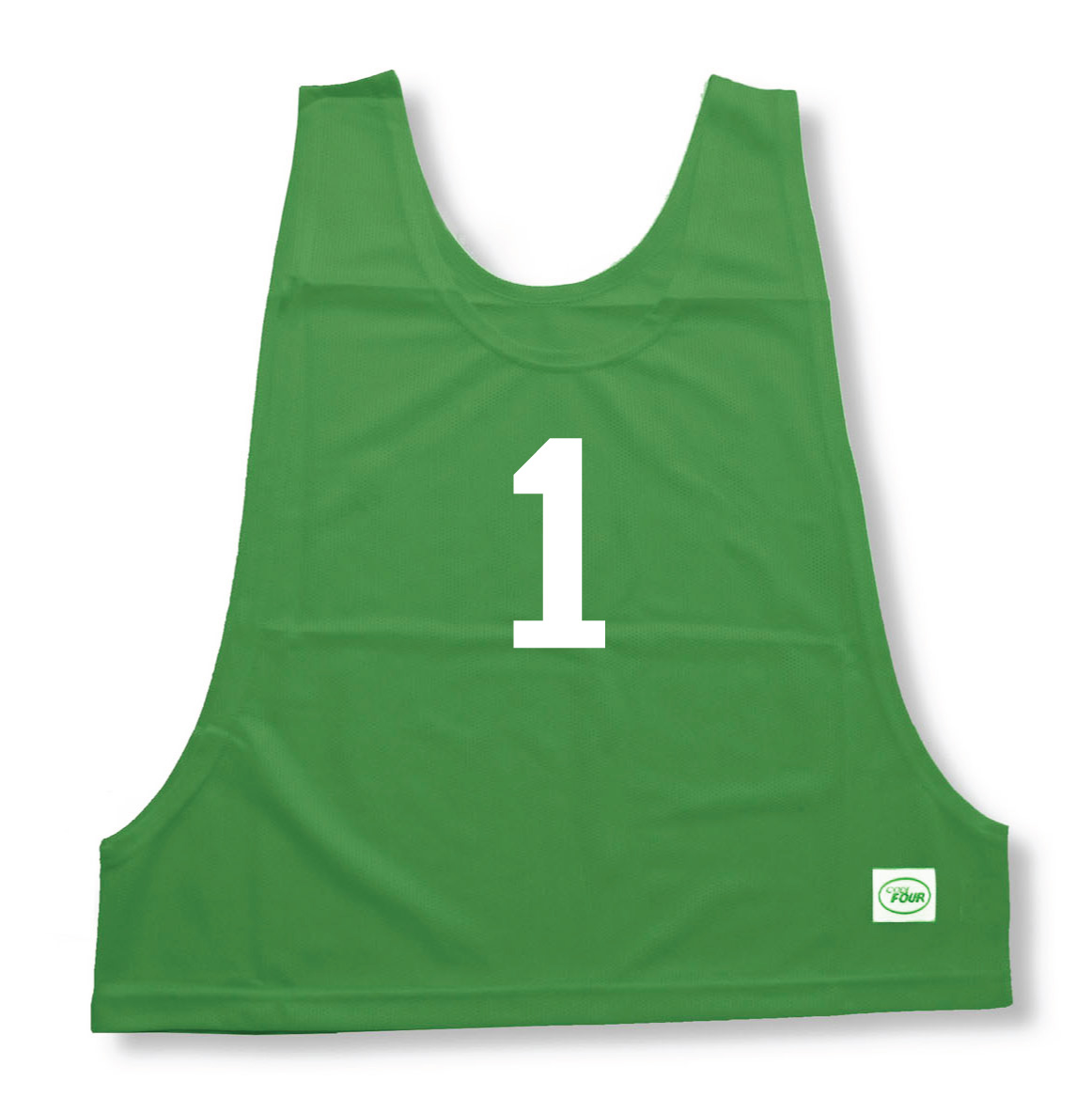 Numbered soccer pinnies at CodeFourAthletics.com