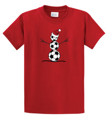 Soccer Snowman tshirt by Code Four Athletics
