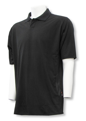 C4 golf polo in black